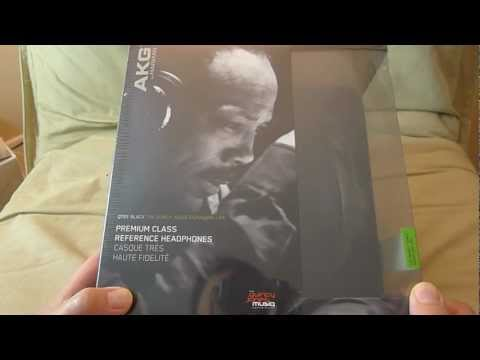 AKG Q701 Quincy Jones Signature headphones unboxing