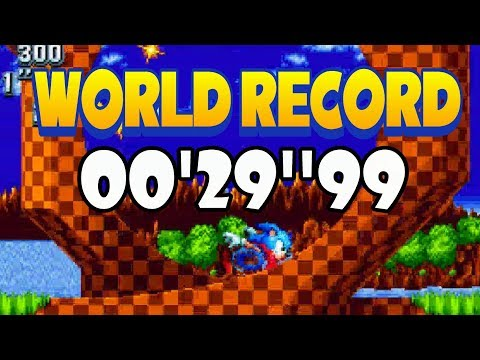 Sonic Mania WORLD RECORD | Green Hill Act1 | 00'29''99