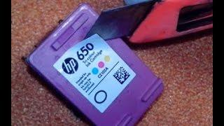 Как заправить картридж HP 650(Заправка картриджей., 2016-10-13T23:22:17.000Z)