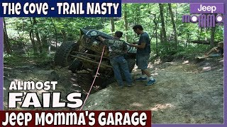 Almost Jeep Fails - Jeeps Off Road on Trail Nasty at the Cove  Jeep Girls Rock!