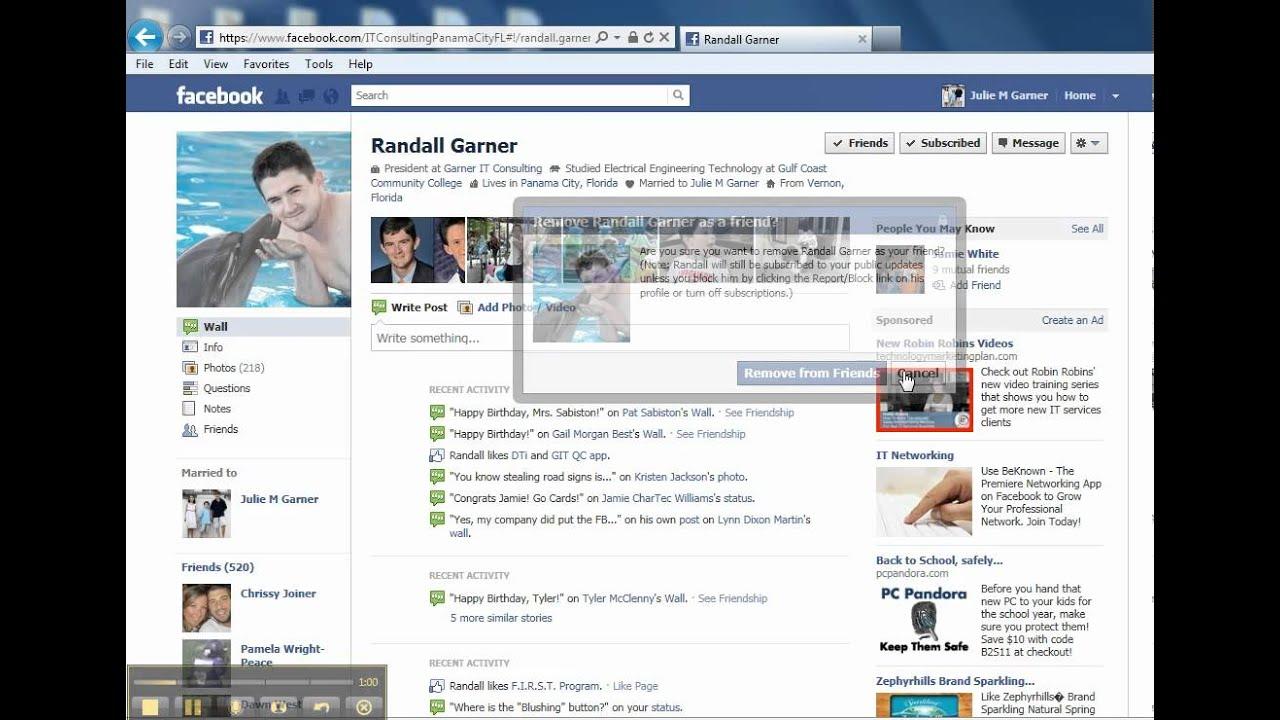 Facebook - How to Unfriend or Block a Friend