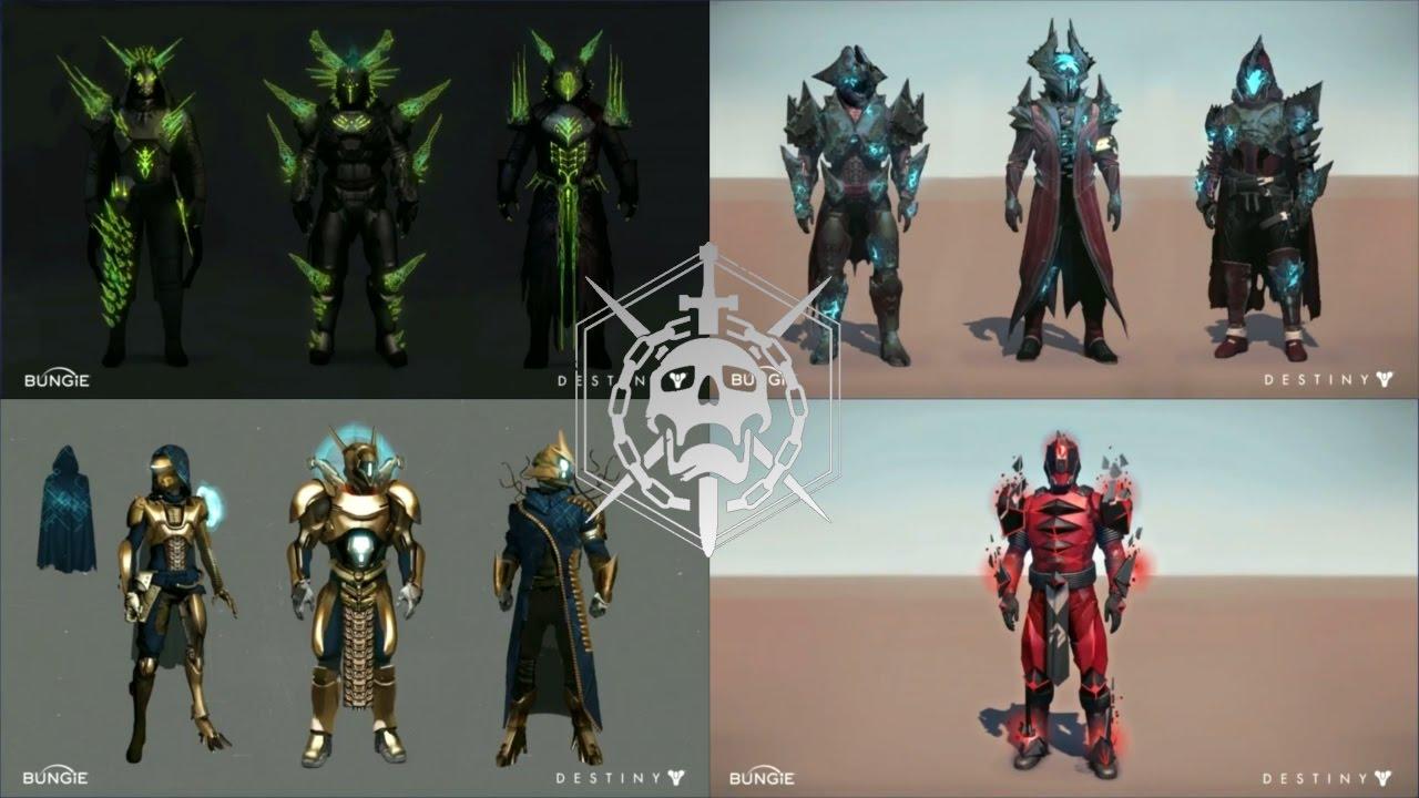 destiny - age of triumph raid armor revealed! - youtube