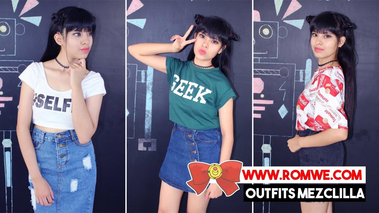Look De Mezclilla Akari Beauty Romwe By Akari Beauty Official