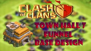 How to base design | Clash Of Clans Town Hall 7 [Funnel] Base Design | CoC Base TH Design