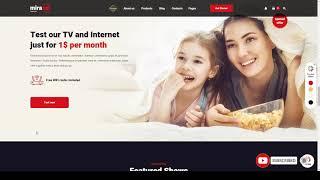 Hinata - Internet Provider and Satellite TV WordPress Theme cinema telecom