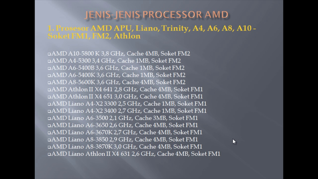 AMD APU (Advanced Micro Devices Accelerated Processing Unit)