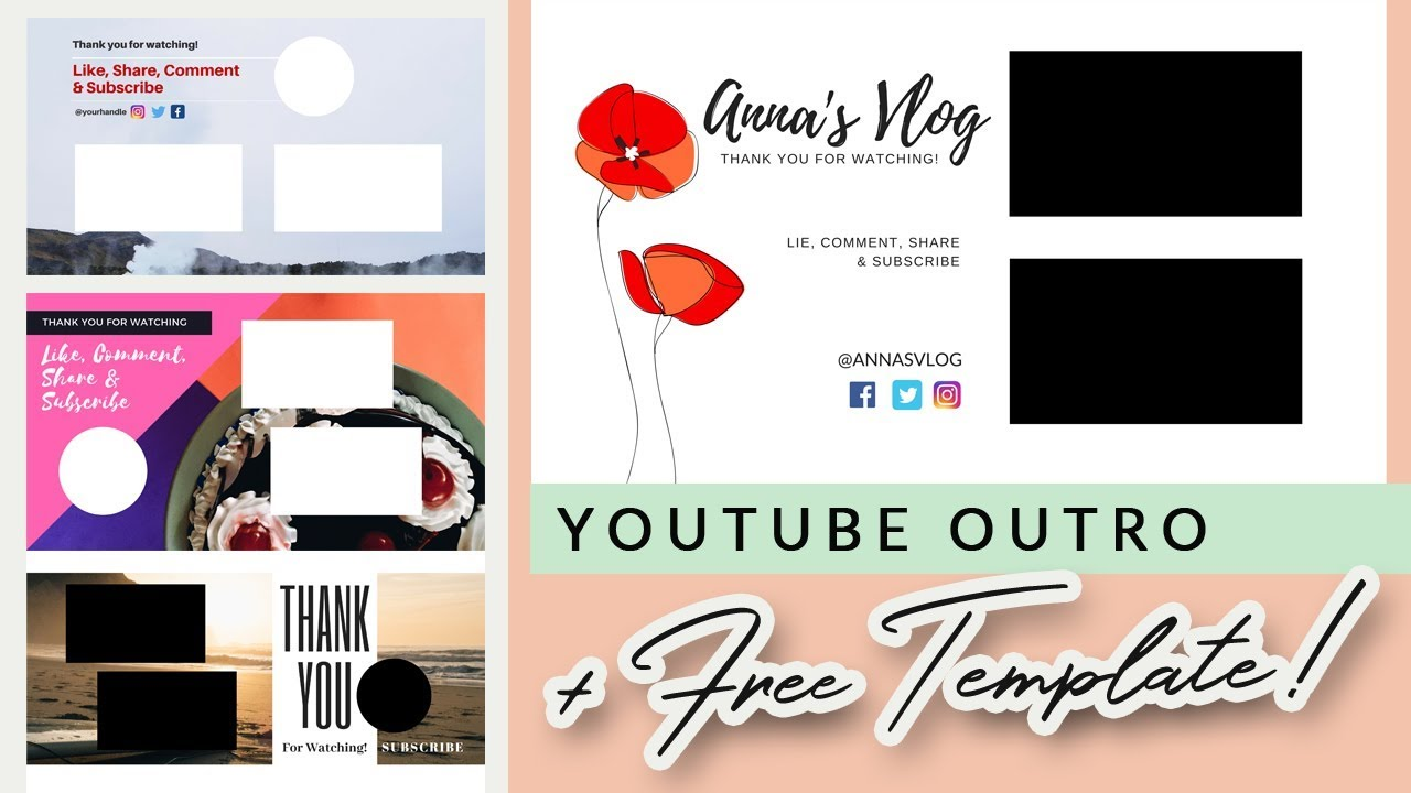 how to create a youtube outro in canva 5 free editable outro