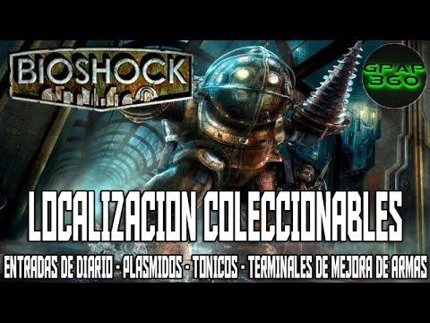 Bioshock HD | Localización Entradas de diario, Plásmidos, Tónicos y Terminales de mejora de armas