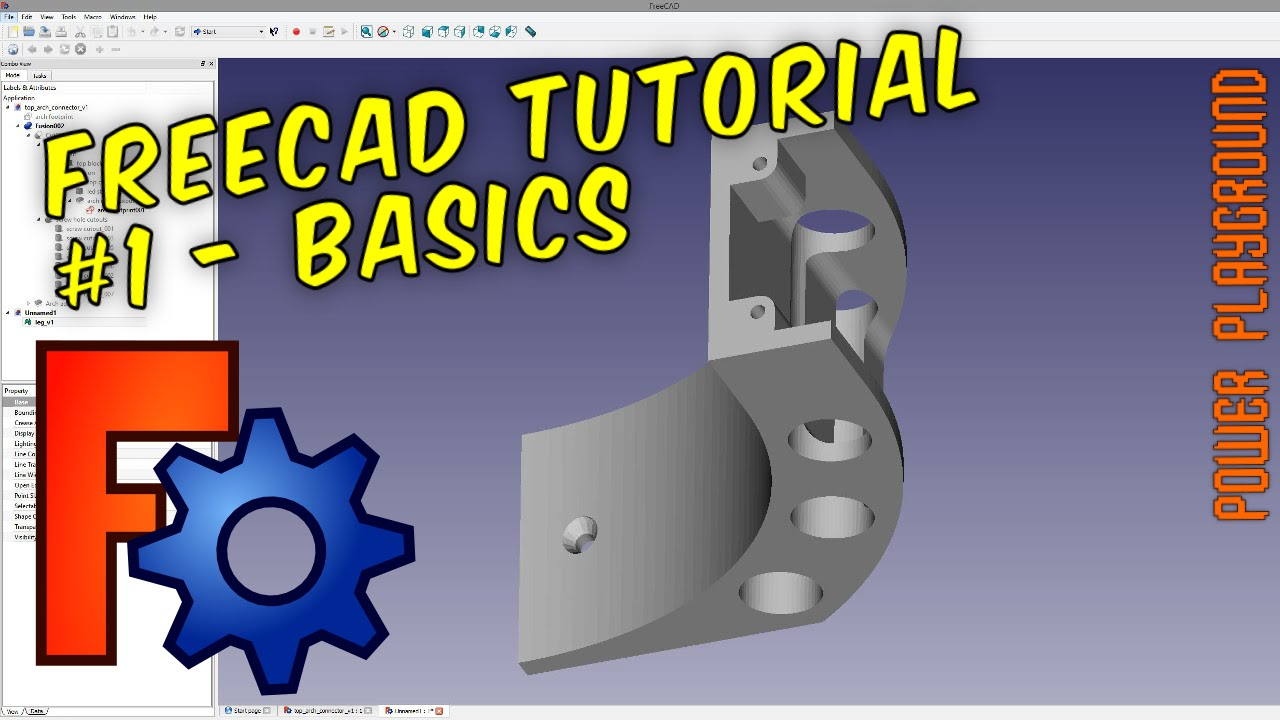 FreeCAD 3D Modeling Tutorial 1: The Basics - video CADinfo