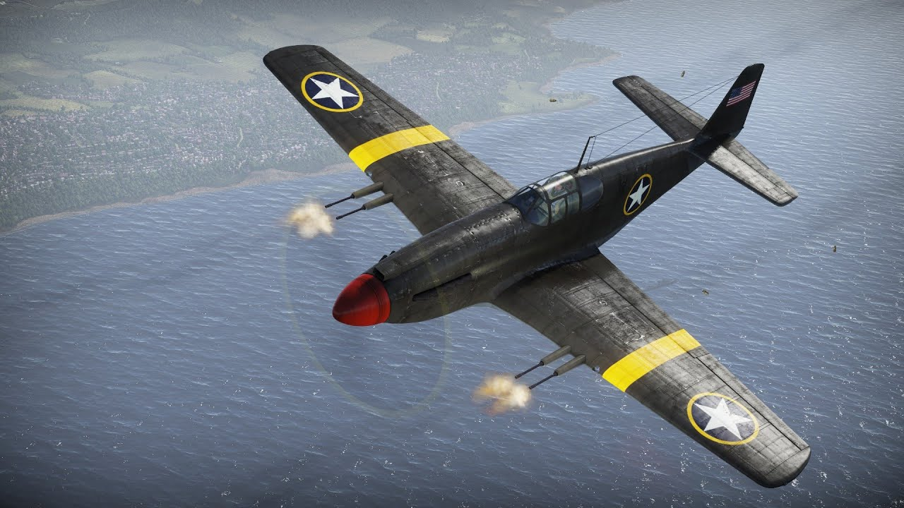 war thunder: p-51 mustang - the cannon stang - youtube