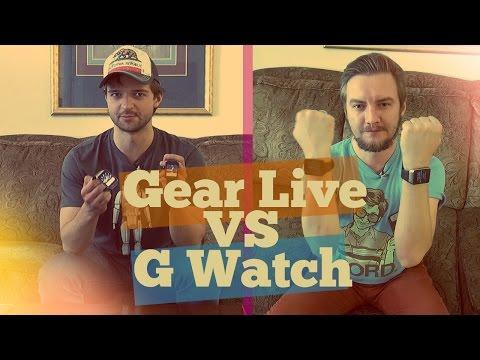 Обзор/сравнение Samsung Gear Live и LG G Watch часов на Android Wear