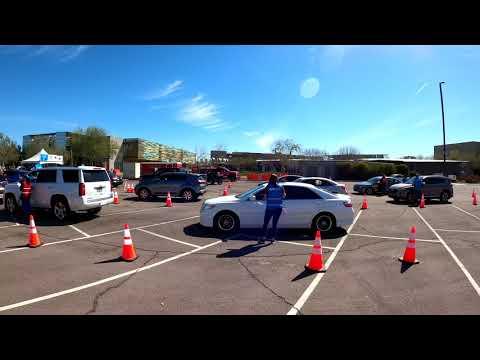 Vaccine Line, Chandler Gilbert Community College, 2626 Pecos Rd, Chandler, Arizona, 17 March 2021