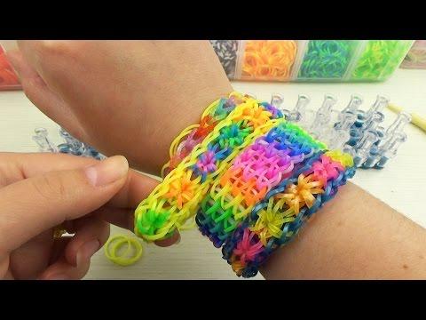 ВАРЕЖКА из резинок на рогатке. Плетение из резинок | Rainbow Loom Mitten Charm