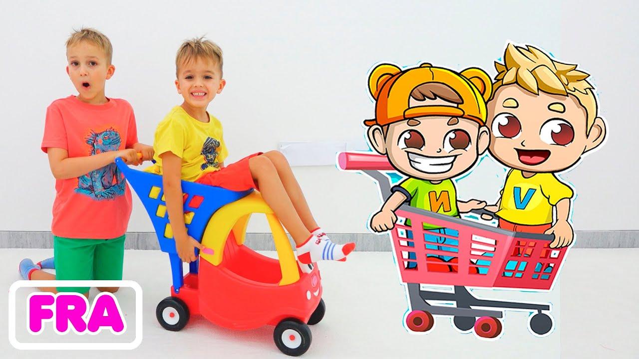 Vlad et Niki jouent et font du shopping