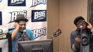 Bruno Mars singing Baby and Your Love @ B96 radio
