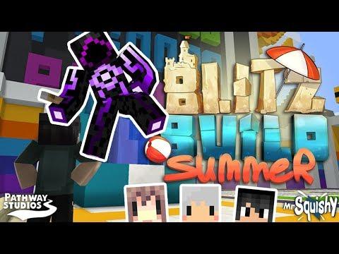 Minecraft - 閃電建築夏日版 BLITZ BUILD SUMMER ft.阿神 羽毛 熊貓團團