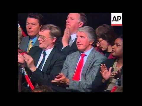 UK: BRIGHTON: TONY BLAIR ADDRESSES LABOUR PARTY CONFERENCE