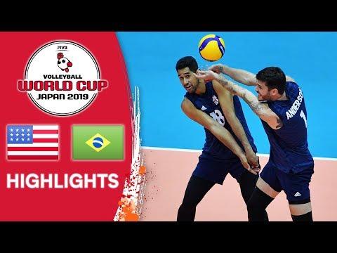 USA Vs. BRAZIL - Highlights | Men's Volleyball World Cup 2019
