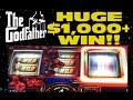 "MONSTER $1,000+ WIN!! AS IT HAPPENS!! ""THE GODFATHER"" slot"