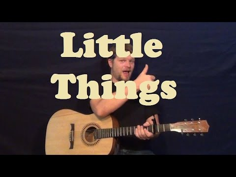 Little Things (One Direction) Easy Guitar Strum Fingerstyle Licks How to Play Tutorial