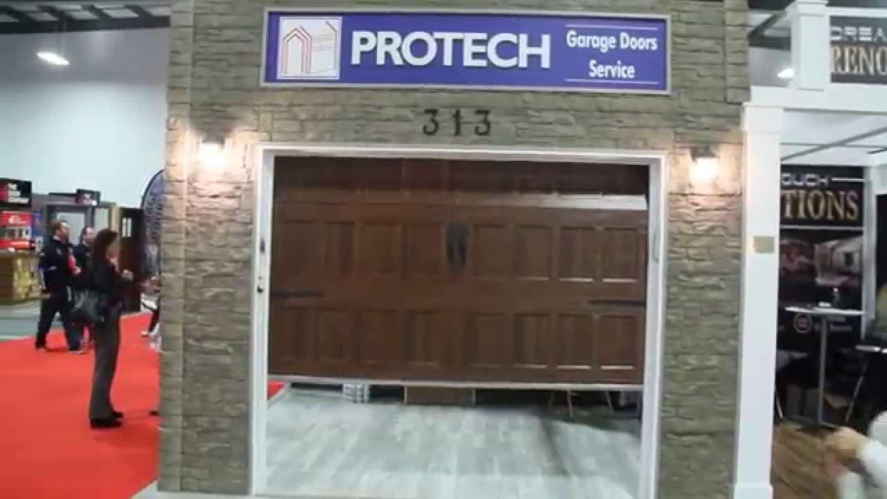 Protech Garage Door Repair - At Ottawa Home Show 2014 & Protech Garage Door Repair - At Ottawa Home Show 2014 - YouTube pezcame.com
