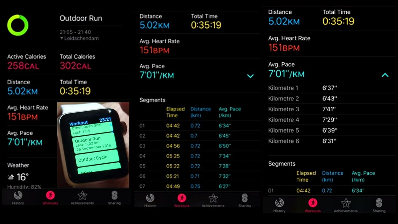 Apple Watch Series 2 Outdoor Run Workout Test for 5km ...