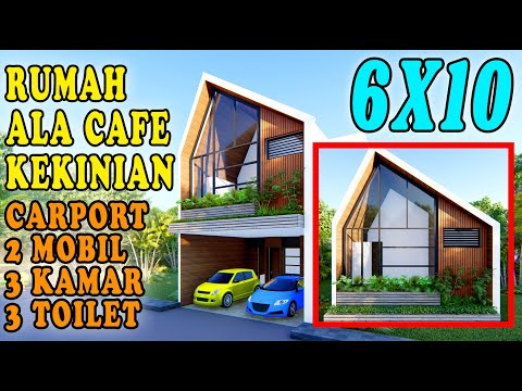 DESAIN RUMAH 6X10, KOK MIRIP CAFE KEKINIAN ?? DESIGN BY ORLEANS STUDIO
