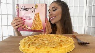 MUKBANG МИНДАЛЬНЫЙ ТОРТ Невротическая больная любовь ALMOND CAKE