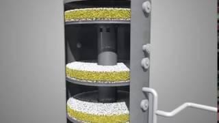 Контактный аппарат установки производства серной кислоты