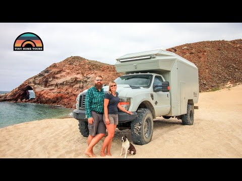 Couple Builds Custom DIY Overland Truck for Long Term Off-Road Travel
