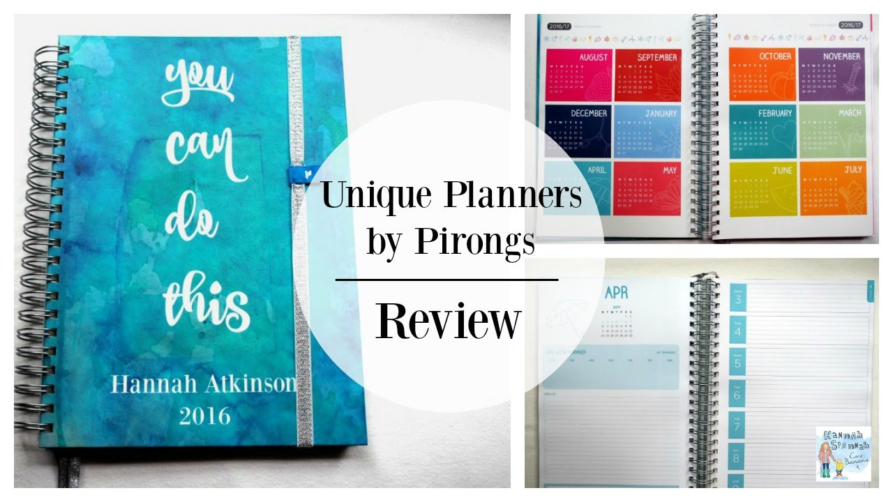 unique planners by pirongs a review youtube