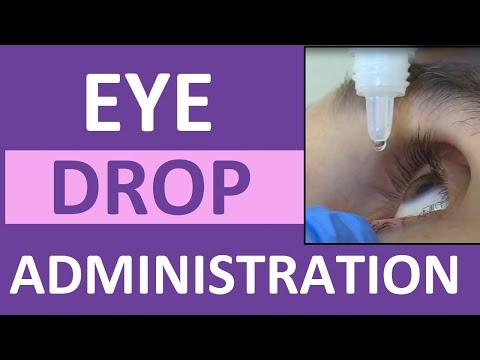 Administering Eye Drops Nursing | Instill Eye Drops Punctal Occlusion for Glaucoma