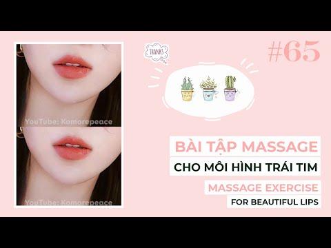 Bài 65 | Bài tập massage cho đôi môi hình trái tim | Massage exercise for beautiful lips