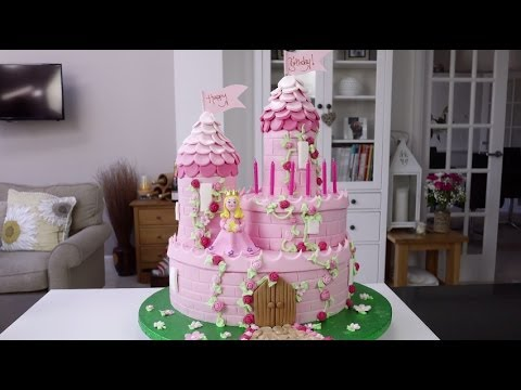 How To Make A Princess Castle Cake Part 1 YouTube