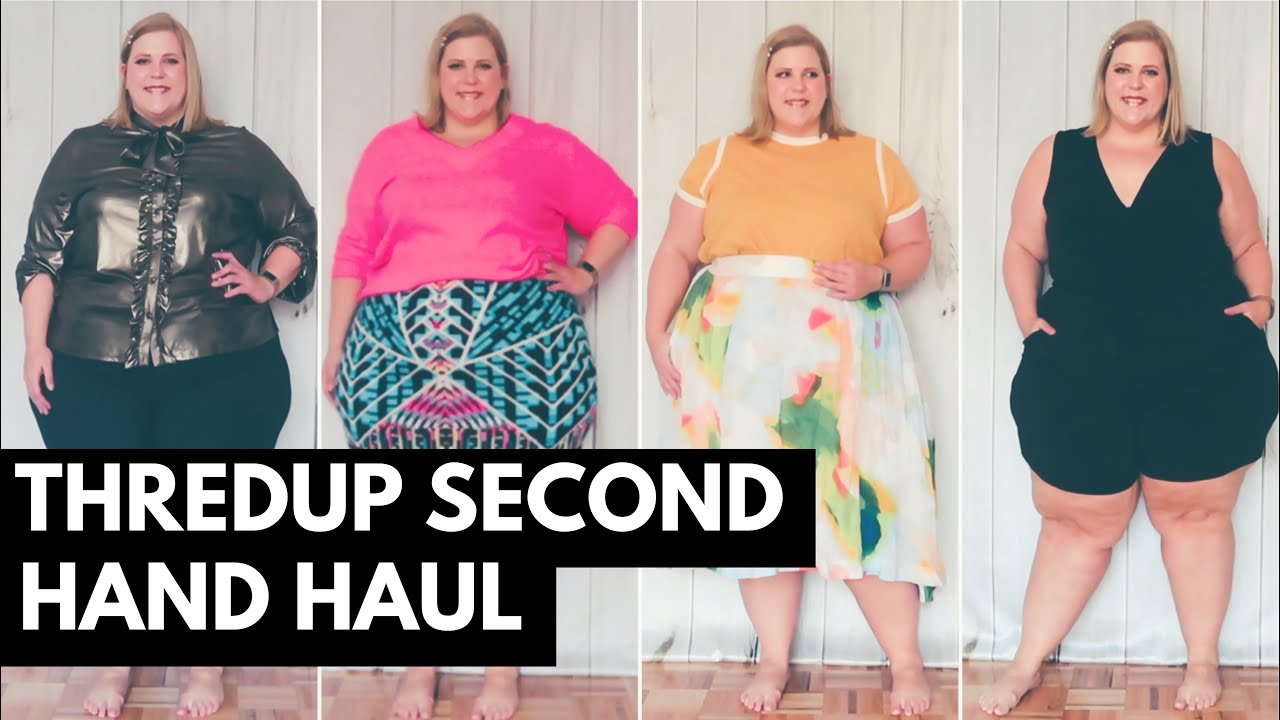 38482e3afc4 thredUP Plus Size Haul + Try On - YouTube