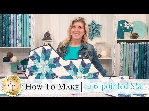 How to Make a Snowflake Table Runner (6-Pointed Star) | a Shabby Fabrics Quilting Tutorial