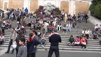 Рим на екскурзиантите.Площад  Испания.wmv