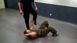 Прикладной рукопашный бой. Защита от ударов ногами лёжа. Принципы. Обучение.