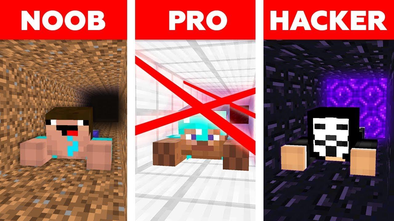 Minecraft NOOB vs PRO vs HACKER : PRISON ESCAPE CHALLENGE in minecraft / Animation