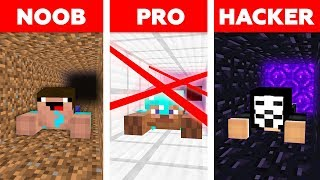 Minecraft NOOB vs PRO vs HACKER : PRISON ESCAPE CHALLENGE in minecraft / Animation