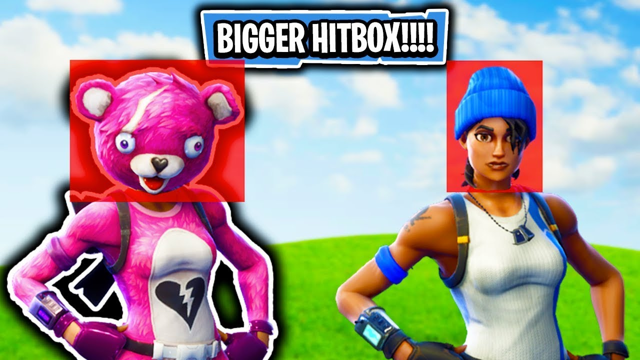 Fortnite MYTHBUSTERS! - TEDDY HITBOX IS BIGGER THAN NORMAL! (Fortnite  Battle Royale MYTHBUSTERS)