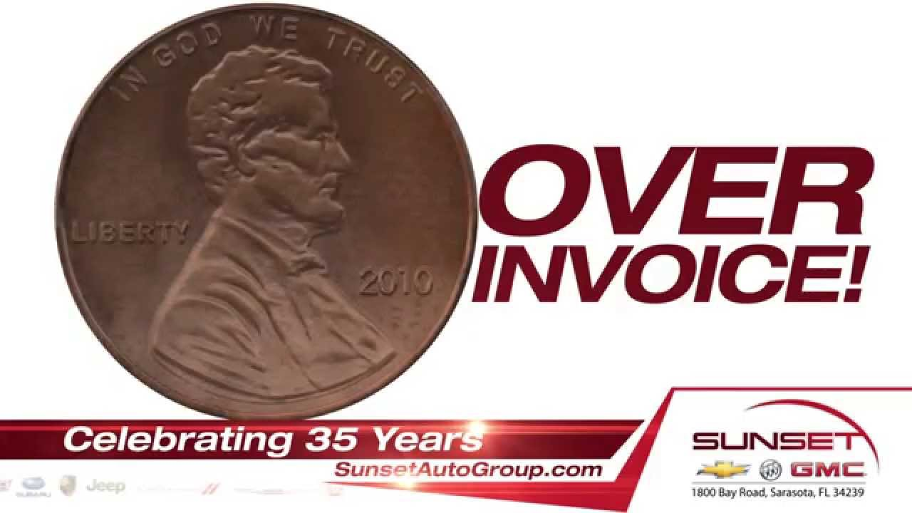 Sunset Chevrolet Buick GMC 35th Anniversary | One Penny Over Invoice Sale