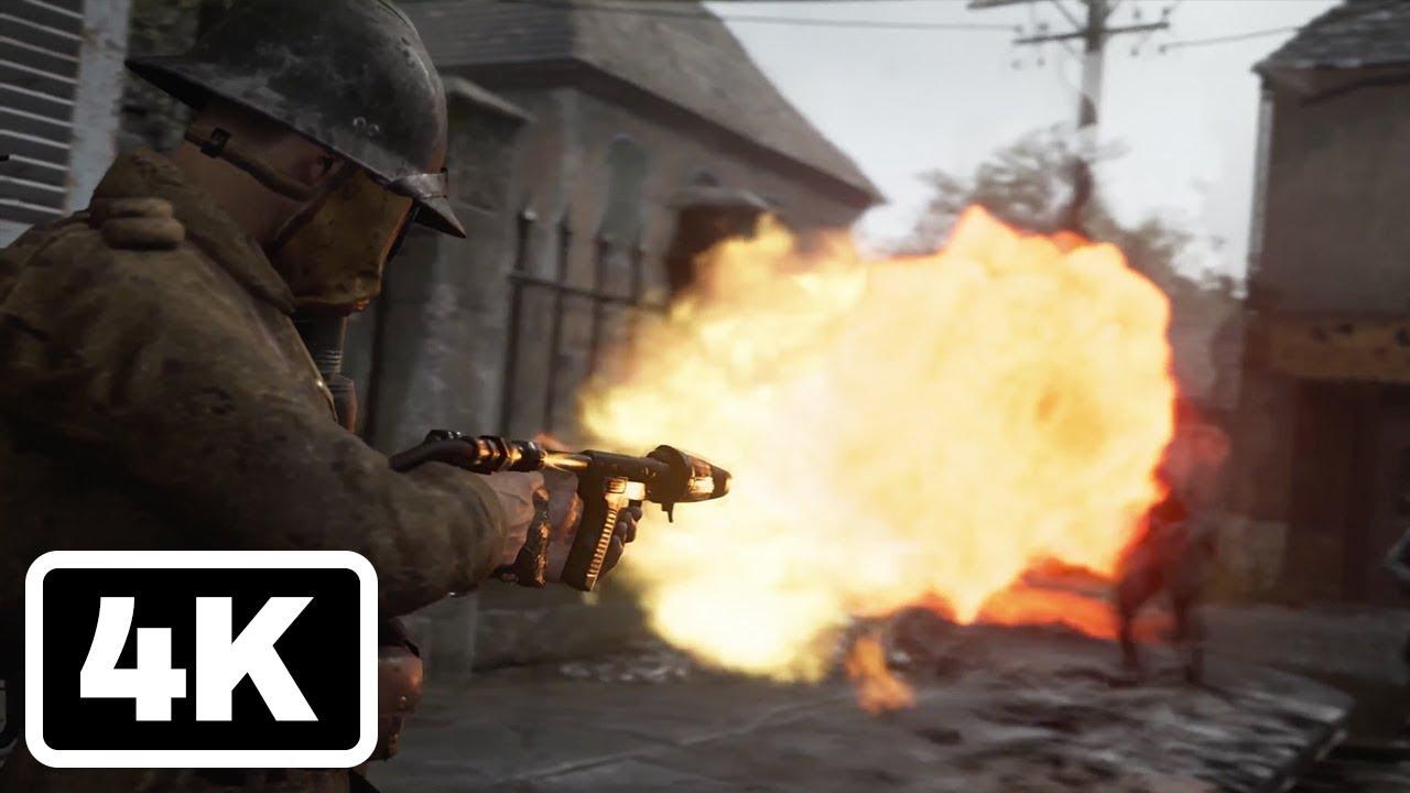 Call of duty ww2 carentan trailer 4k paris games week - Is cod ww2 4k ...
