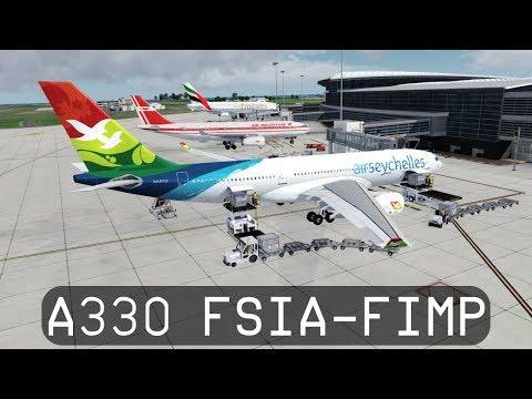 Prepar3d V4.1 - Air Seychelles A330-200 - Seychelles to Mauritius (FSIA-FIMP)