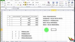 Microsoft Excel Untuk Pelajar 1 SUM AVERAGE