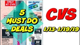 5 MUST DO CVS DEALS 1/13 - 1/19 | 🔥 GRAB 13 ITEMS FOR ONLY 14¢!!