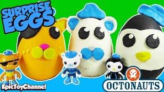 OCTONAUTS Disney Junior Giant SURPRISE EGGS Play Doh Surprise Eggs an Octonauts Toy VIdeo