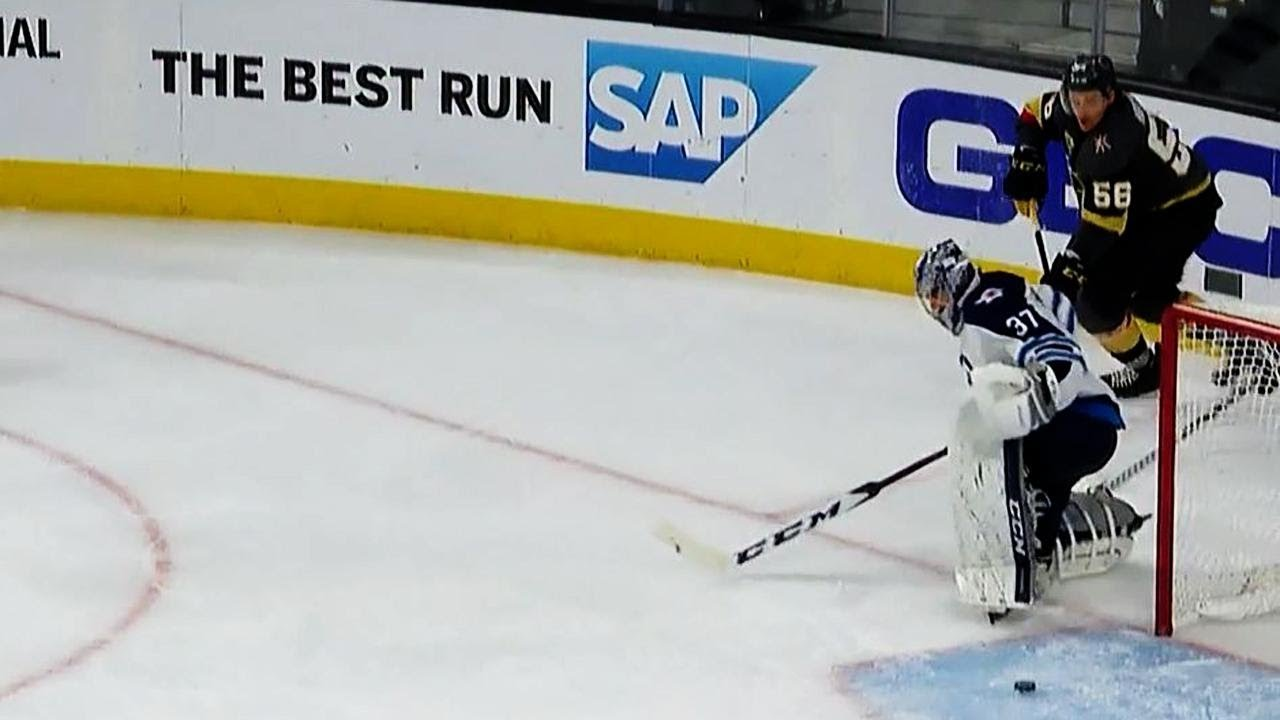 Haula catches Hellebuyck behind net, feeds Neal for goal