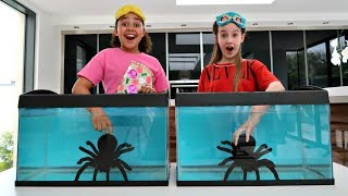 WHAT'S IN THE BOX CHALLENGE - UNDERWATER | Toys AndMe