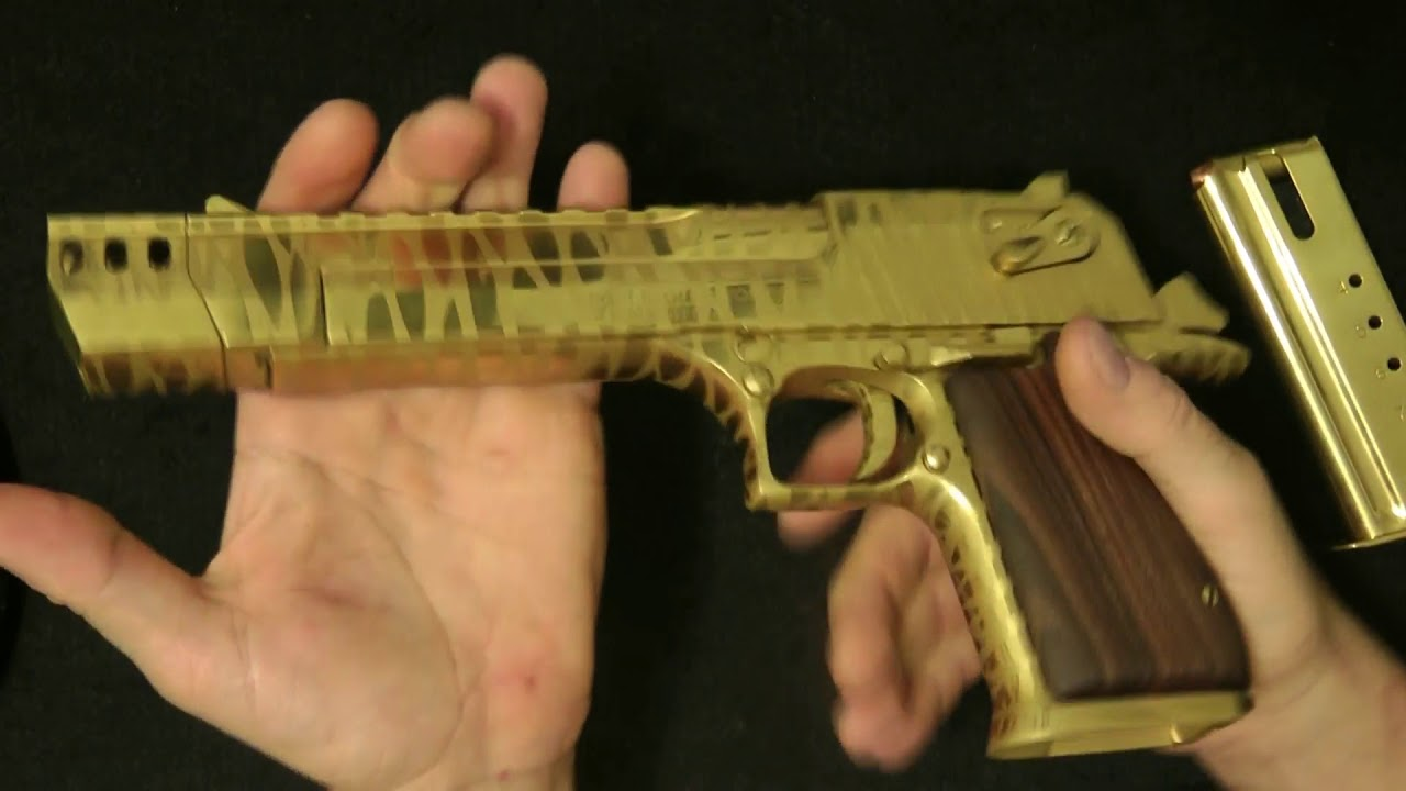 Shtf Desert Eagle 50ae Titanium Tiger Striped Beast Youtube